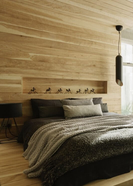 Haal scandinavi in huis met houten wanden xyladecor blog - Muurbekleding houten badkamer ...