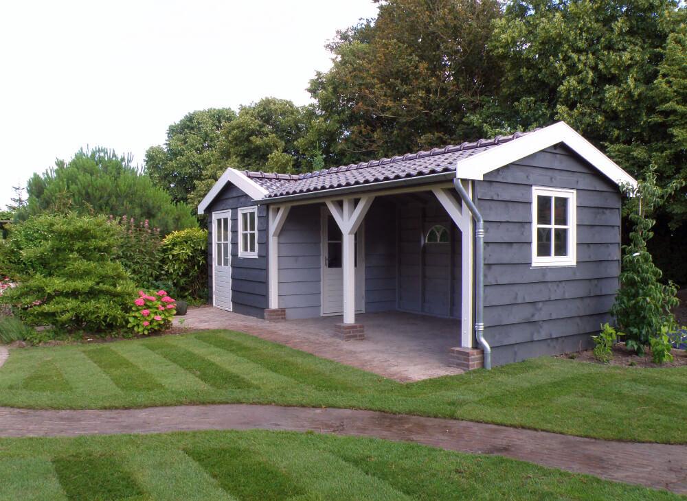 geschilderd cottage landelijk tuinhuis