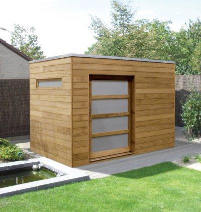 strak modern tuinhuis